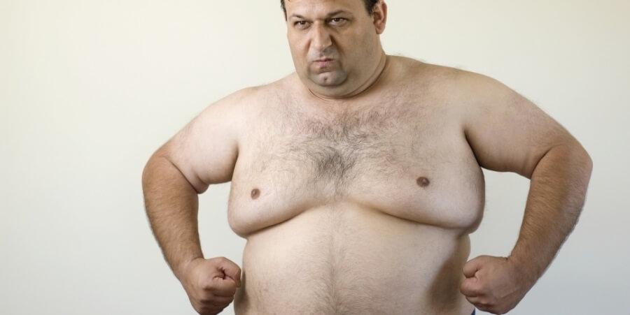 мужская жирная сиська